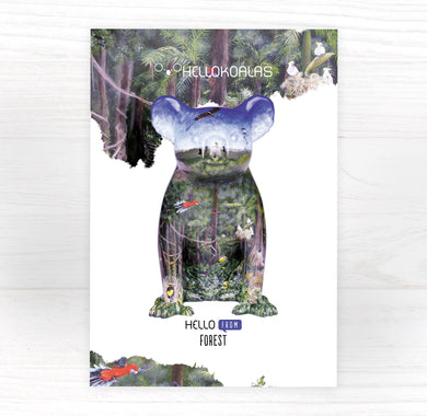 Hello Koalas Forest Postcard