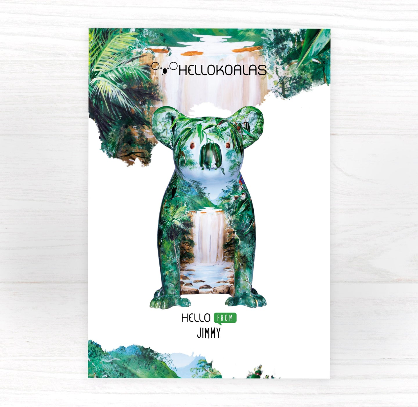 Hello Koalas Jimmy Postcard
