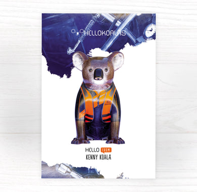Hello Koalas Kenny Postcard