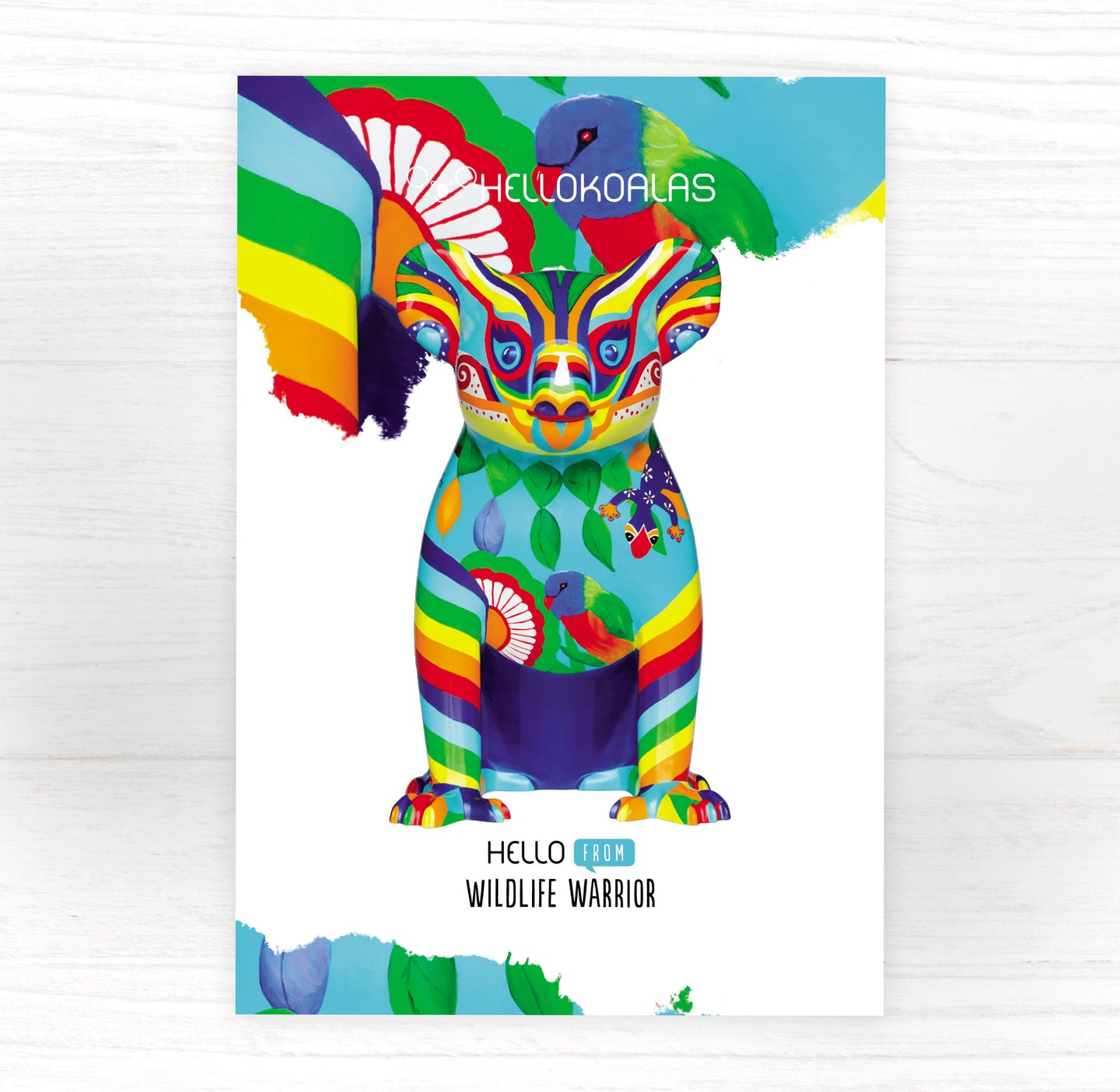 Hello Koalas Wildlife Warrior Postcard