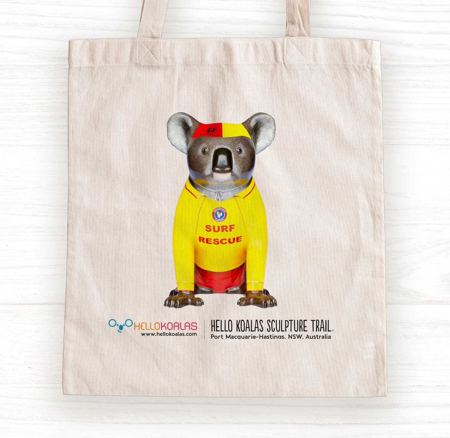 Hello Koalas Mack the Surf Lifesaver Tote Bag