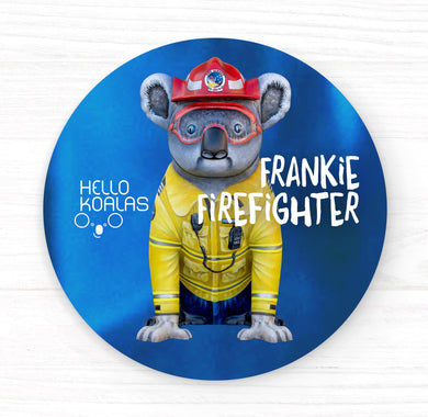 Hello Koalas Frankie Firefighter Badge
