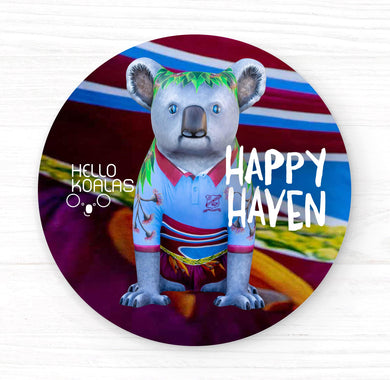 Hello Koalas Happy Haven Badge