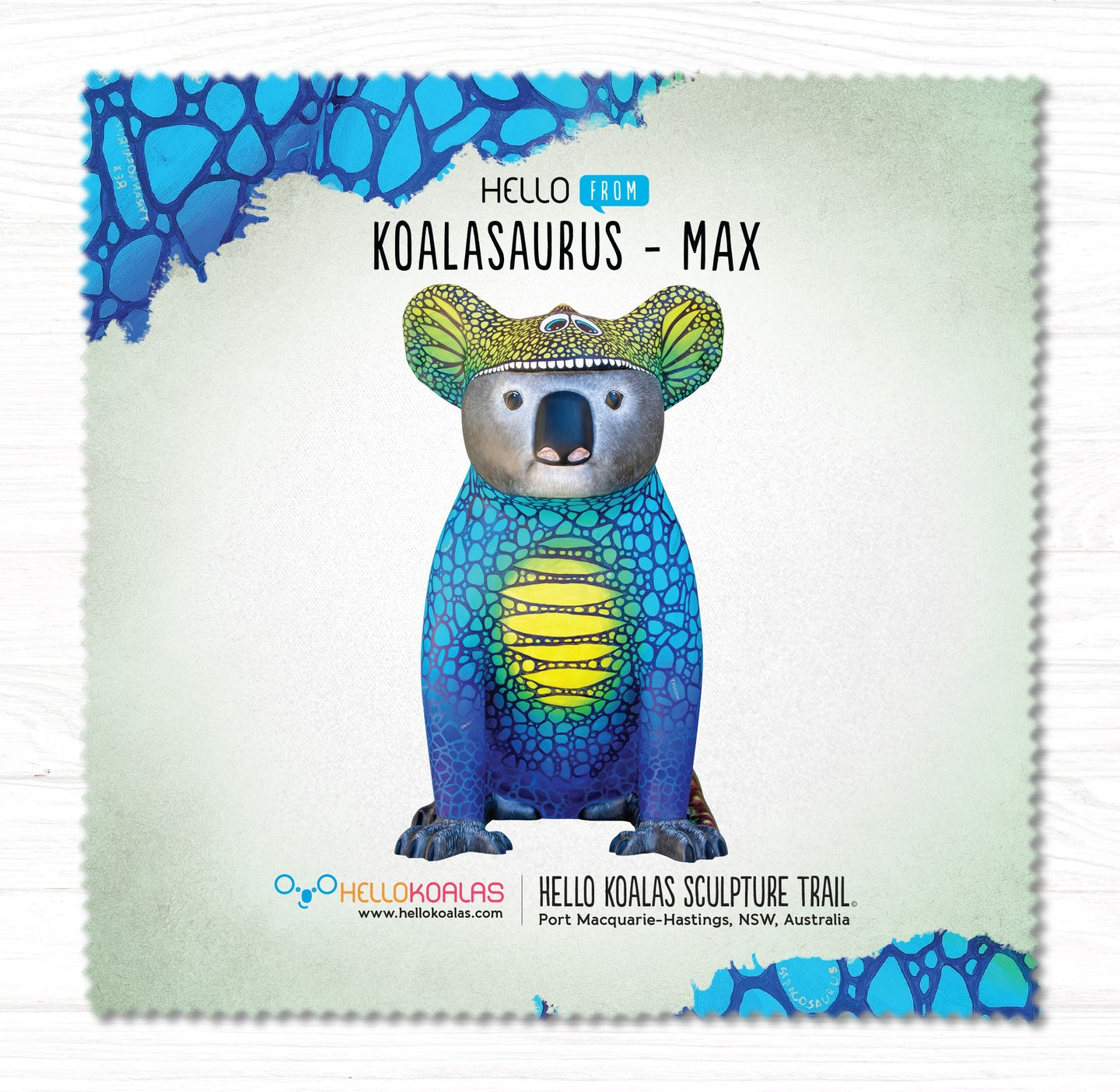 Hello Koalas Koalasaurus MAX Cleaning Cloth