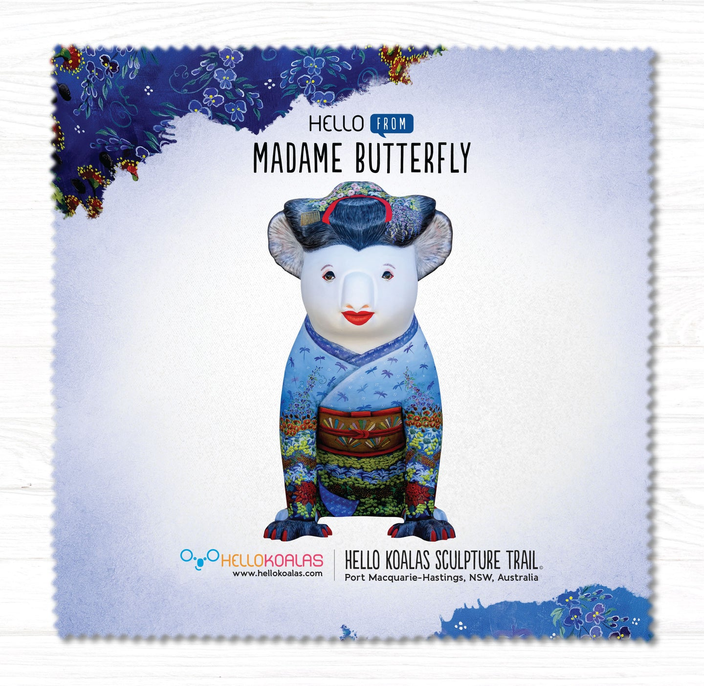 Hello Koalas Madame Butterfly Cleaning Cloth