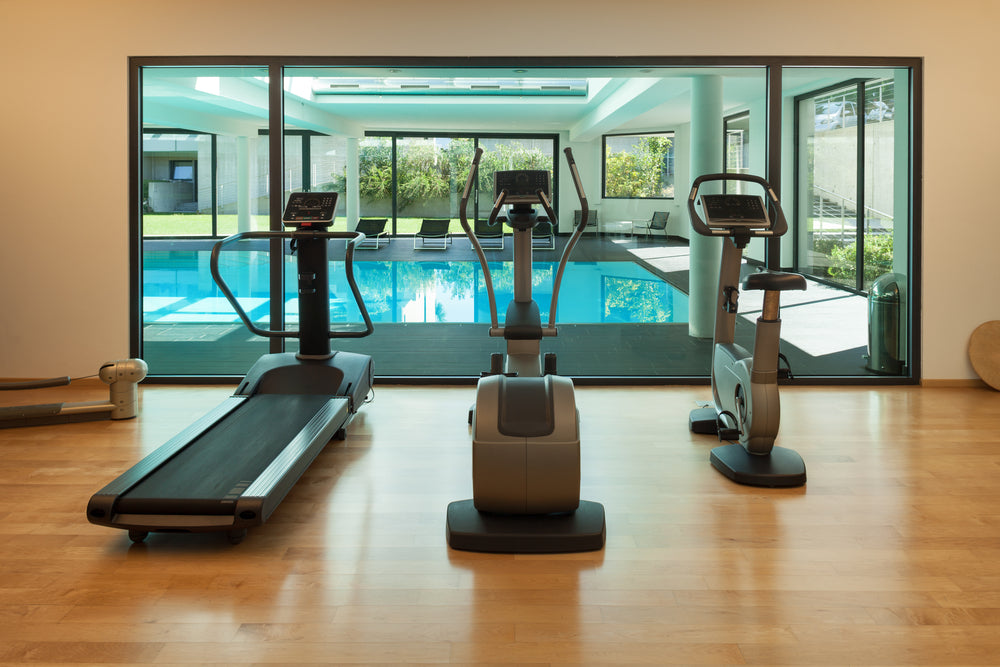 gym of a modern house with spa