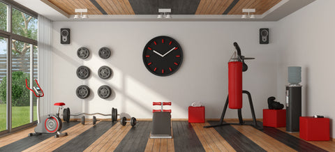 Home gym with punching boxer,cyle and other fitness equipment