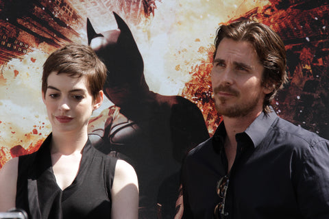Christian Bale and Anne Hathaway.