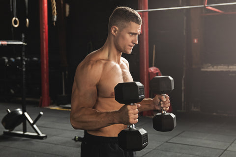 Bicep hammer curl exercise