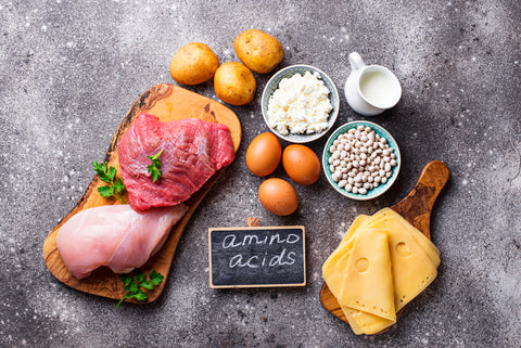 Products rich in amino acids.