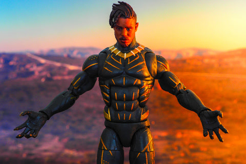Erick Killmonger action figure from Black Panther