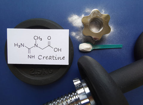 Structural chemical formula of creatine molecule