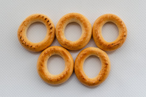 donuts laid out in the form of olympic rings