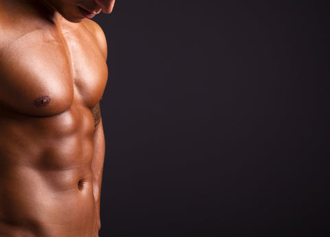 Lean man with six pack abs