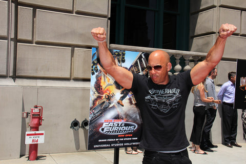 """Vin Diesel at the """"Fast & Furious - Supercharged"""" Ride Press Event"""