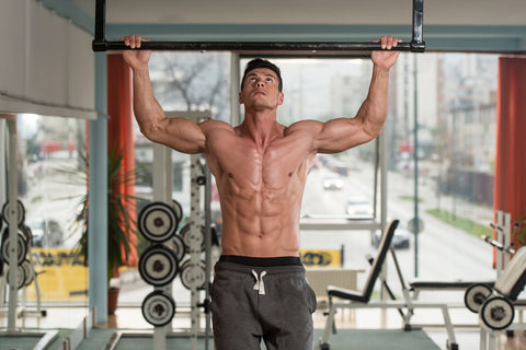 Male Athlete Doing Pull Ups