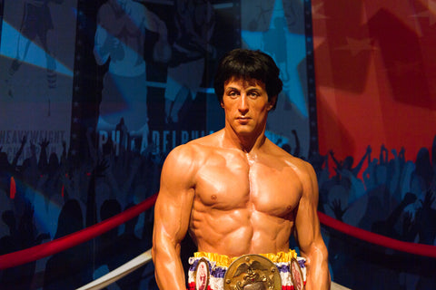 Sylvester Stellone as Rocky Balboa in Madame Tussauds Hollywood wax museum