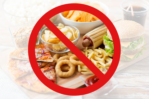 fast food, low carb diet, fattening and unhealthy eating concept