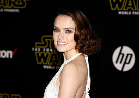 Daisy Ridley at the World premiere of Star Wars