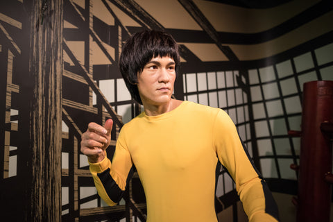Bruce Lee wax figure.