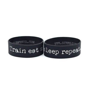 The Steel Supplements Accessories Train Eat Sleep Repeat (TESR) Motivational Bands