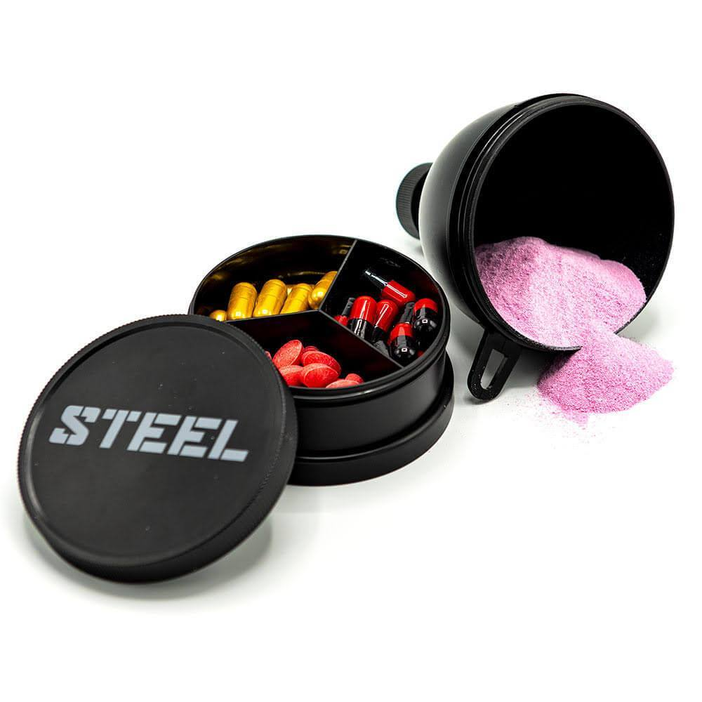 The Steel Supplements Accessories STEEL 1 Gallon Funnel & Pill Case