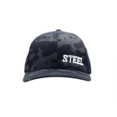 The Steel Supplements Accessories Small/Medium STEEL HAT - FLEX FIT (DARK CAMO)