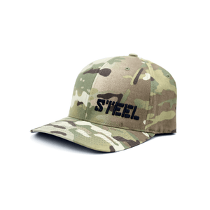 The Steel Supplements Accessories Small/Medium STEEL HAT - FLEX FIT (LIGHT CAMO)