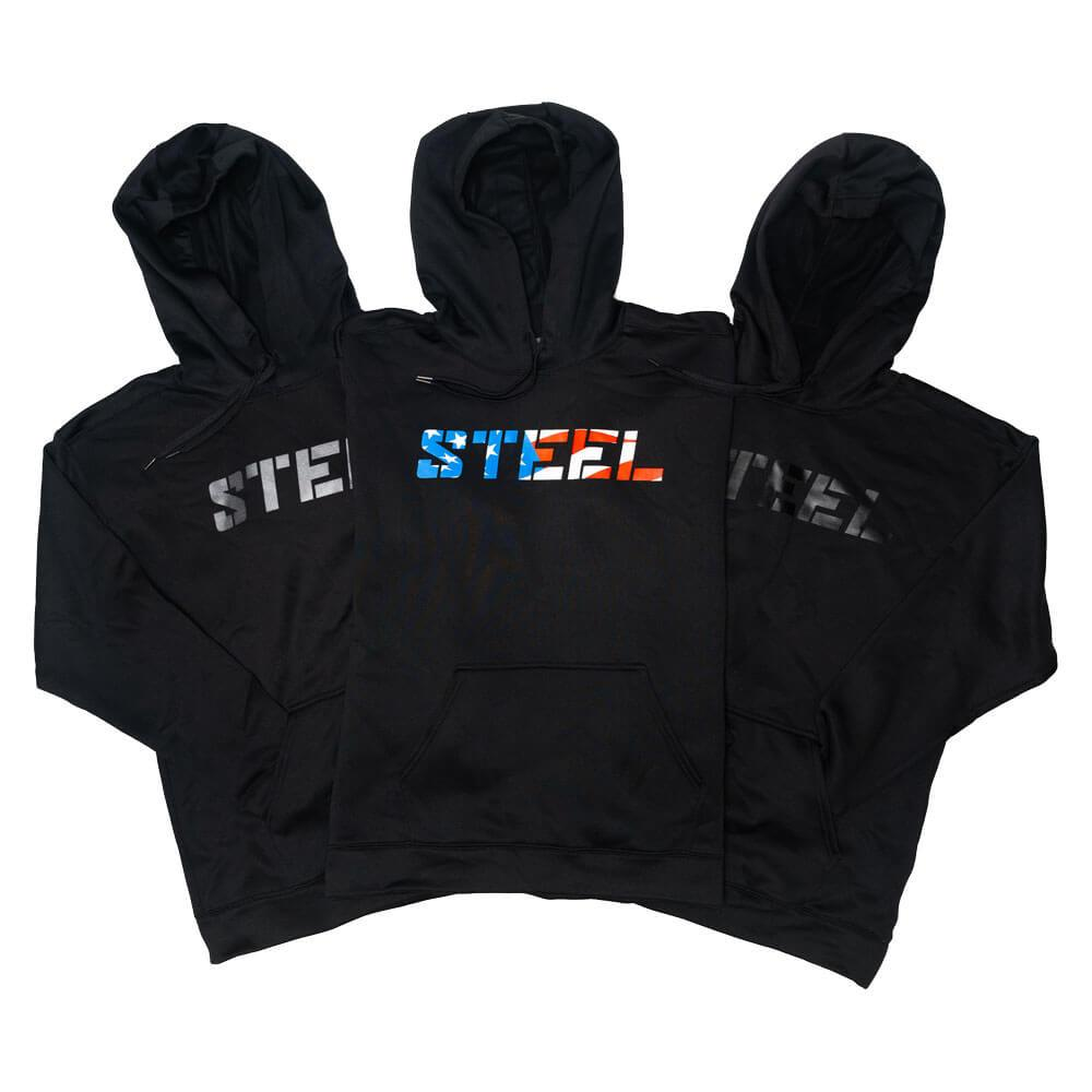 Steel Supplements Apparel Large Steel Performance Hoodie Collection