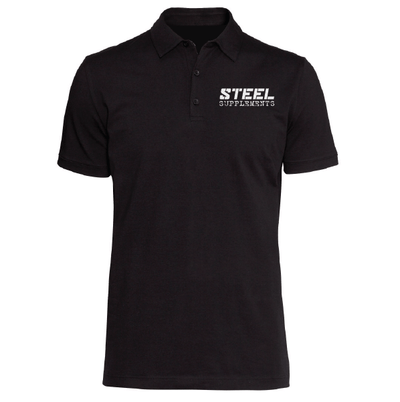 The Steel Supplements Apparel Small / Black Steel Polo
