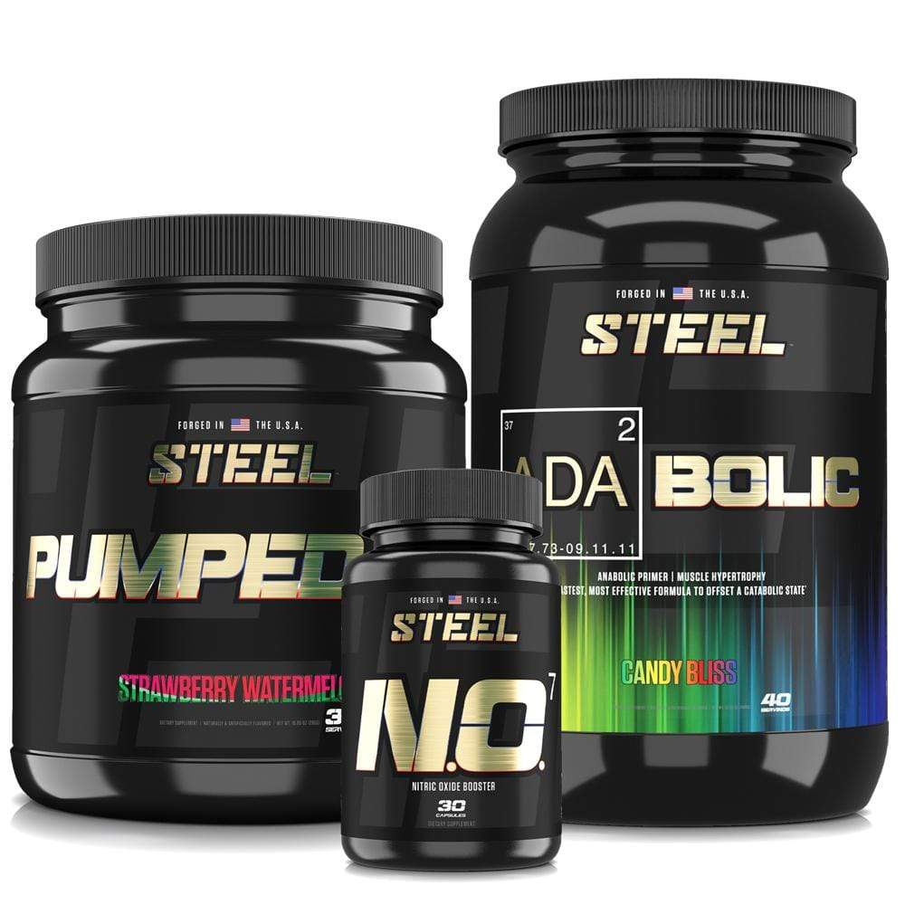 Steel Supplements Stack Candy Bliss / Strawberry Watermelon Ultimate Pump Stack