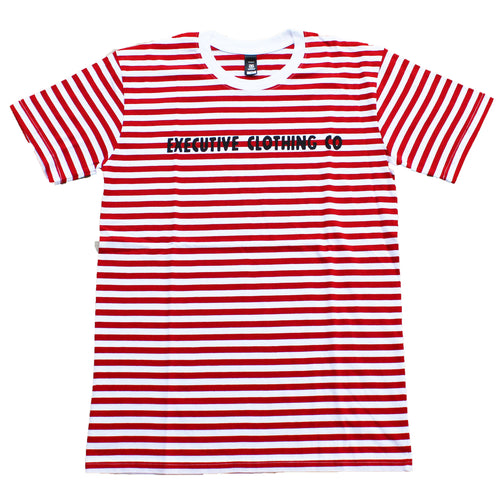Crimson Stripe Tee