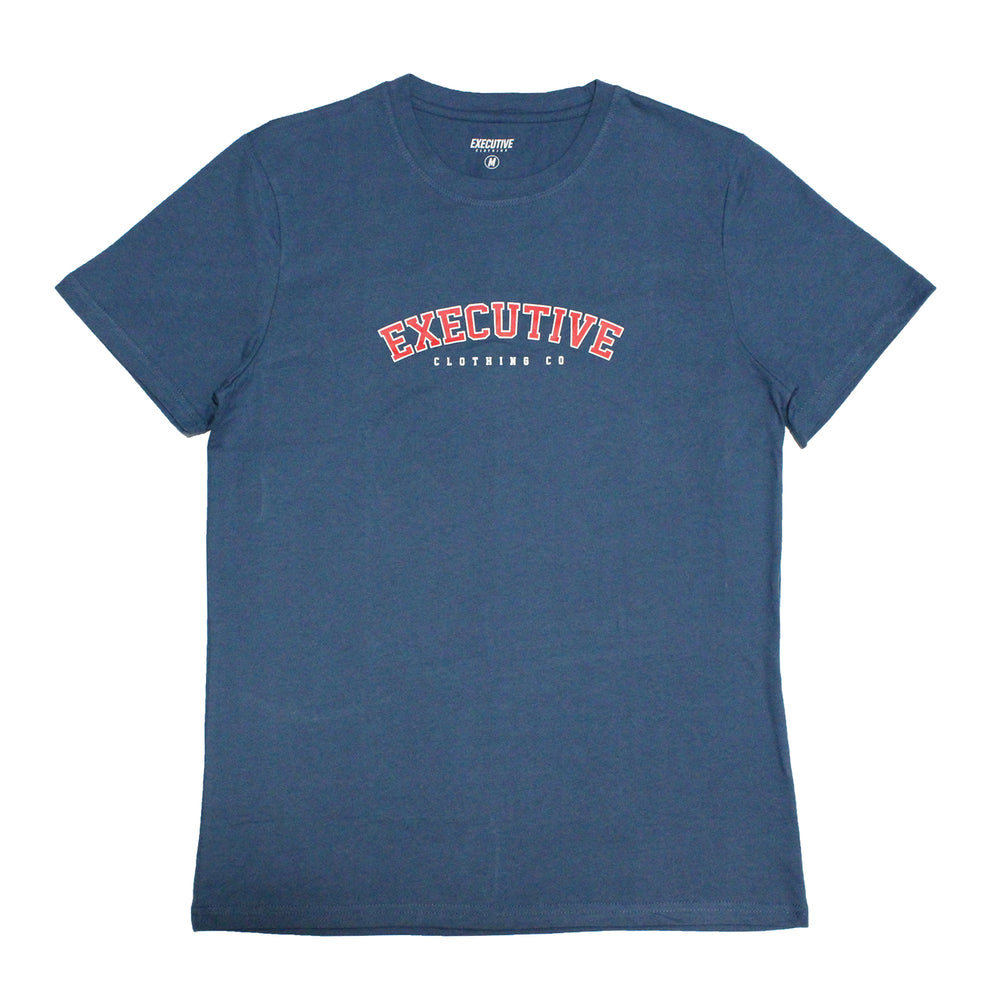 College Tee - Blue