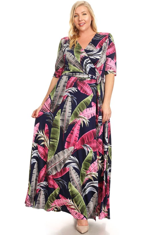 Floral print maxie dress 1612TC