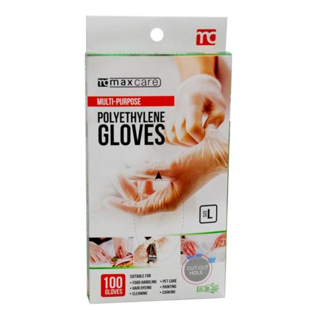 MaxCare Multi-purpose Polyethylene Gloves 100's