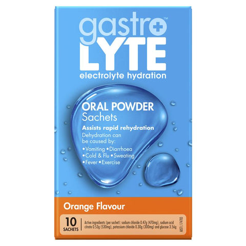 Gastrolyte Sachets Orange 10 x 4.9g