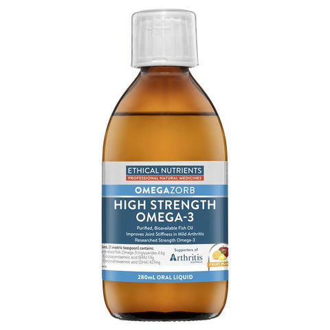 Ethical Nutrients OMEGAZORB High Strength Omega-3 Liquid (Fruit Punch) 280ml