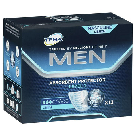 Tena 12 Men Level 1 Light Absorbent Protector