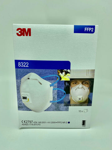 3M FFP2 8322 Respirator Mask with Breathing Valve (10pcs)