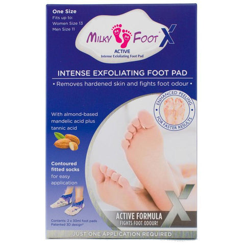Milky Foot Intense Exfoliating Foot Pad One Size Fits Up to Women Size 13 Men size 11
