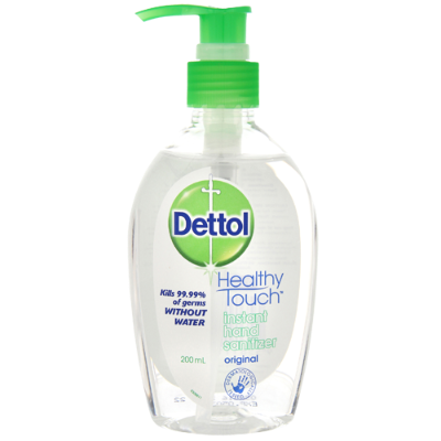 Dettol Antibacterial Instant Hand Sanitizer Pump 200ml