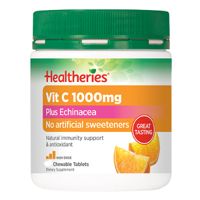 Healtheries Vitamin C With Echinacea Orang 100ea