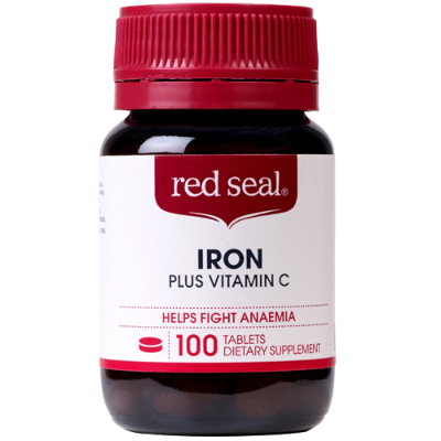 Red Seal Iron Plus Vitamin C Tablets 100ea