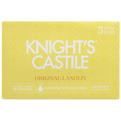 Knights Castile Original Lanolin Soap 5pk