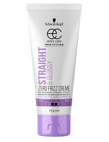 Schwarzkopf Extra Care Hair Product Straight & Glossy Creme tube 70g