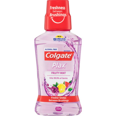 Colgate Plax Fruity Mint Alcohol Free Mouthwash 250ml