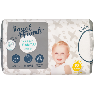 Rascal and Friends Nappy Pants Unisex 13-18kg Walker 28ea