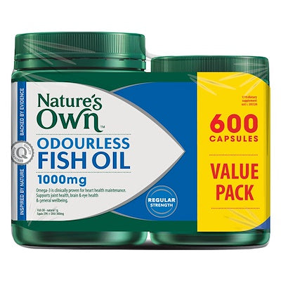 Nature's Own Odourless Fish Oil 1000mg 600 capsules