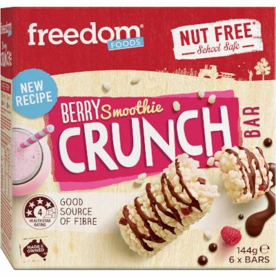 Freedom Foods Breakfast Smoothie Berry Crunch Bar 144g