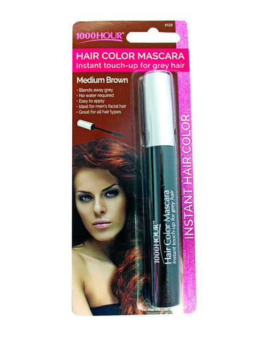 1000HR Hair Colour Mascara, Medium Brown